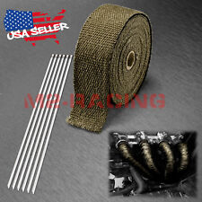 "Titanium Exhaust Pipe Insulation Thermal Heat Wrap 2"" x 50' Motorcycle Header"