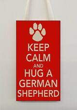 German Shepherd Plaque - KEEP CALM AND HUG A - Novelty Funny Gift Present
