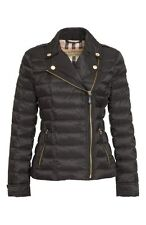 Burberry Brit DEANSTEAD Down Coat Quilted Black Jacket  Puffer Zipper Coat Sz L