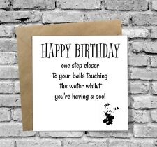 GREETINGS CARD BIRTHDAY FUNNY HUMOUR RUDE DAD BROTHER FRIEND UNCLE GRANDAD SON