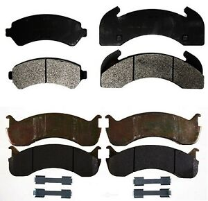Front & Rear SemiMet Brake Pad Sets Kit ACDelco Pro For Sterling Truck Blue Bird