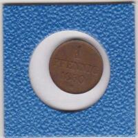 1 Pfennig Hannover 1850 B Ernst August