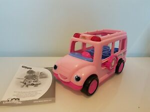 Stop N Surprise Pink School Bus Fisher Price Little People. (Bus Only)