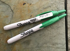 36704 Sharpie Retractable Permanent Marker Green Ink Fine Point Pack Of 2