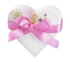 Hallmark Bastin Diecut Heart Memo Pad Pink Floral