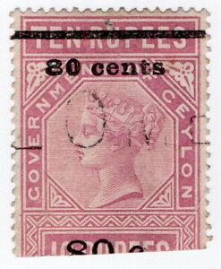(I.B) Ceylon Telegraphs : Provisional 80c on 10R OP