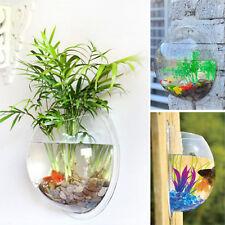 Creative Wall Hanging Mount Bubble Bowl Fish Tank Aquarium Garden Home Decor Pot