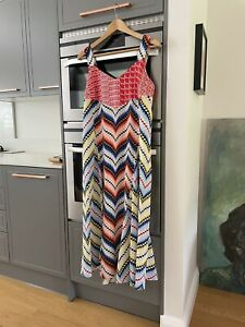 STUNNING KENZO SILK MAXI DRESS. SIZE 40/12. ONLY WORN ONCE. BOUGHT FOR £540.