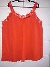 New Look Inspire Orange crochet trim vest size 24
