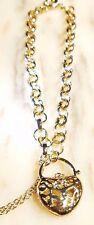 yellow gold HART bracelet and chain