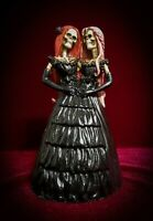 Skelamese Twins-Skeleton Siamese Twin Sisters Figurine - Skulls Day of the Dead