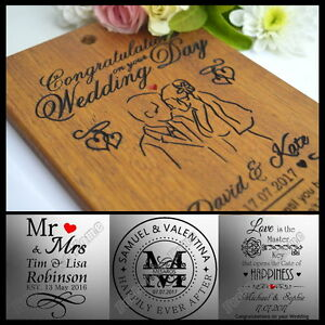 Personalised Wedding Anniversary Gift Card Present For Bride Groom Wife Husband