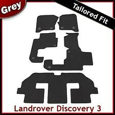 Landrover Discovery 3 7 Seater Tailored Fitted Car Mats GREY 2 Clip