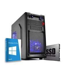 Pc desktop assemblato Intel quadcore,Ram 8gb,Ssd 240Gb,Windows 10 Computer Fisso