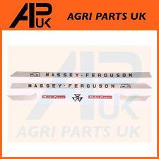 Massey Ferguson 165 168 Tractor MF Hood Bonnet Emblem Decal Sticker Set