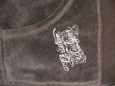 Christian Audigier Womens Gray Velour Track Suit  small