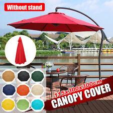 3x3m Replacement Fabric Parasol Canopy UV Cover For Outdoor Garden Arm Umbrella