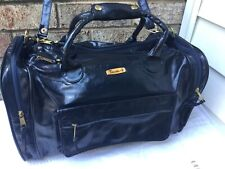 TRAVELITE VINTAGE PVC CARRY ON TRAVEL LUGGAGE ROOMY -COMPARTMENT DUFFLE BAG