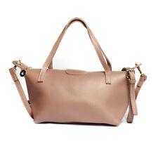 2 Way Shoulder Sling Leather Office Bag (Purple Gray)