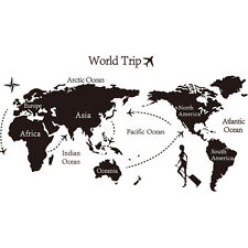 3d Home Decor World Map Removable Wall Sticker Large 140*80