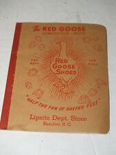 Vintage Original Red Goose Shoes Blank Composition Book