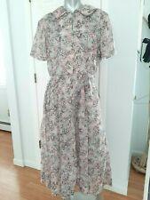 Vintage 40s Semi-sheer Day Dress