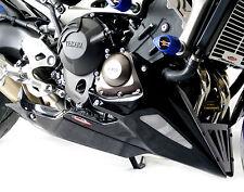 Yamaha MT-09 14-16/XSR900 16 Bugspoiler – Schwarz – silbernes Gewebe