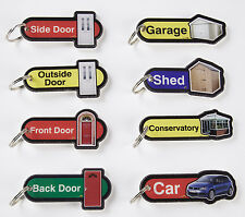 Set Of 8 Key Fob Key Rings By Find For Dementia & Alzheimers Use Around The Home