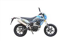 K-Sport Motard Motorrad - 125 ccm Crossbike EURO 4 Blau/Weiß