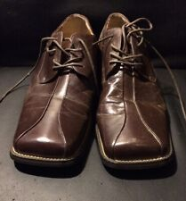 Zengara - Mens Size 11M - Brown Leather Square Toe Oxford Dress Shoes!!!***