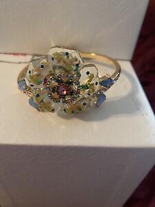 Betsey Johnson beautifully designed pastel colors flower statement bracelet NIB