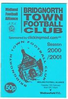 Bridgnorth Town v Wednesfield 2000/1 (13 Feb) Midland Alliance League Cup