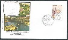 1980 VATICANO VIAGGI DEL PAPA BRASILE FORTALEZA - RM1