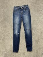 American Eagle Women's Jeans Size 0 Skinny Hi-Rise Jegging Stretch Distressed