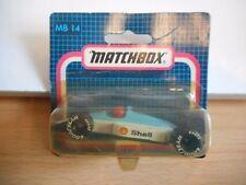 Matchbox Grand Prix Racing Car in White/Blue on Blister