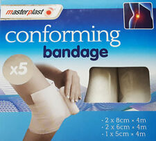 Brand New Masterplast Pack Of 5 Conforming Bandages 3 Different Sizes First Aid
