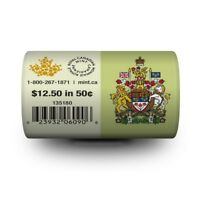 2015 Canada 50 cent Special Wrap RCM Roll