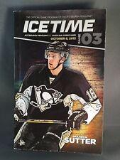 Pittsburgh Penguins 2013 Game 3 Icetime Magazine Game Program Brandon Sutter