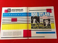 "BIG 14x22 BOB DYLAN & TOM PETTY '86 ""TRUE CONFESSIONS TOUR"" LP ALBUM CD PROMO AD"