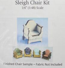 1:48 Dollhouse Miniature Sleigh Chair Kit/ Quarter Inch Scale Furniture KBM Q361