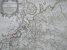 Vaugondy Decorative Original Map Russia Estonia - 1786