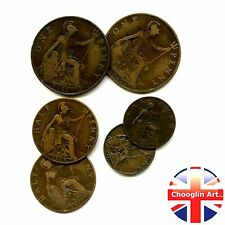 A collection of British 1917 GEORGE V issue coins, 100 Years Old!