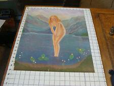 early PRINTING SAMPLE nakid girl in water, HIRSH BERG ART,