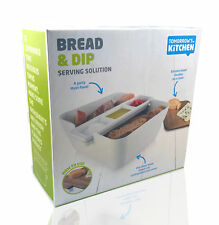 Tomorrow´s Kitchen Brot und Dip Set Brotschale Servierschale Dipschale Weiß