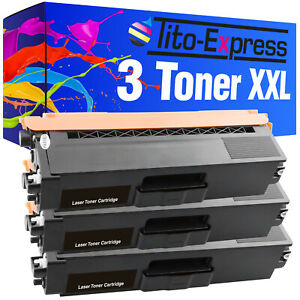 3 Toner XXL Black PlatinumSerie für Brother HL-4150 CDN HL-4570 CDW HL-4570 CDWT