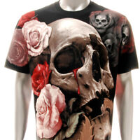 r186 Rock Eagle T-shirt SPECIAL Tattoo Skull Devil Demon Zombie Rose Cotton Tee