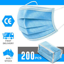 200x Disposable Mask Face Masks Anti PM2.5 Dust Pollution Respirator 3 Layers