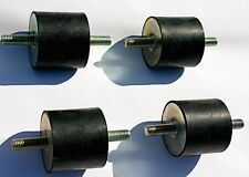 4 Gummipuffer (Gummilager) - weich  - mit beidseitigem Gewindebolzen