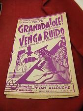 Partition Paso Doble Granada!Olé! Venga Ruido Ramon Suelto