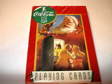 """COCA-COLA 1995 """"SANTA WITH CHILDREN AND REFRIGERATOR"""" PLAYING CARDS"""